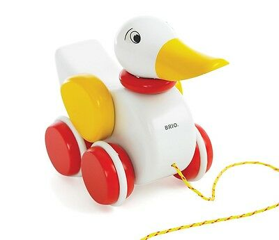 BRIO Wooden Pull-Along Duck 3-5 Years 30323 NEW