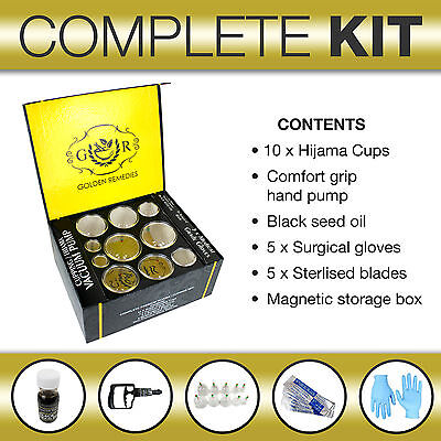 Hijama Cupping Complete Full Kit Set