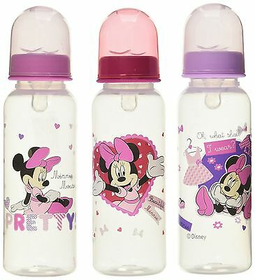 Baby Feedeng Minnie Mouse Three Pack Deluxe Bottle Set (BPA and Phthalate Free)