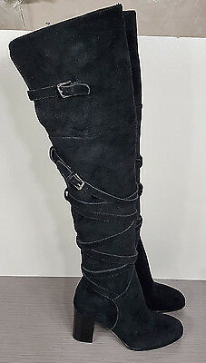 f9ead07954e2e Sam Edelman  Sable  Over the Knee Boot Black Suede Womens Size 5 M