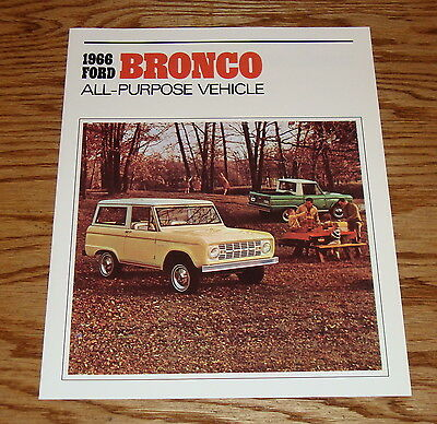 1966 Ford Bronco All-Purpose Vehicle Sales Brochure 66