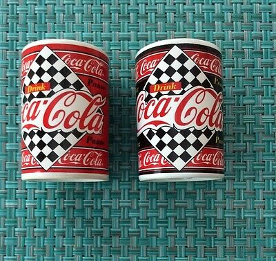 Coca-Cola Ceramic Checkerboard Salt & Pepper Shakers