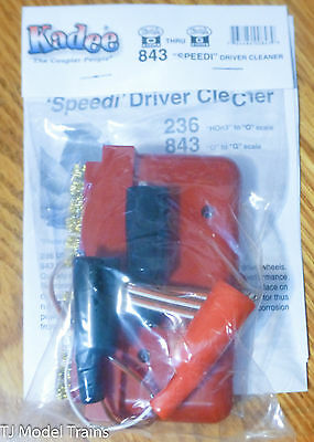 Kadee #843 (O - G Scale) Speedi-Driver Cleaner Brush -- For G & #1 Gauges
