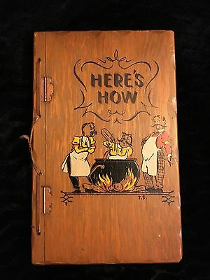 Here's How Mixed Drinks 1941 1st Edition Bartending W. C. Whitfield