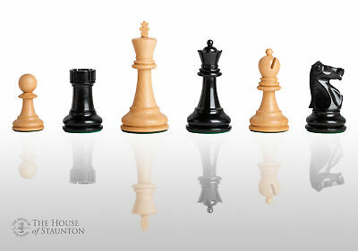 """The Fischer Spassky Commemorative Chess Set - Pieces Only - 3.75"""" King - Ebonize"""