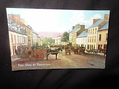 Ireland Co. Kerry Fair Day at Kenmare 1913 Vintage Postcard 1/T