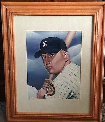 Mickey Mantle New York Yankees 8x10 Photo Framed Matted
