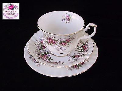 Royal Albert LAVENDER ROSE Trio Cup Saucer & Plate Eng 1st EC c1960's