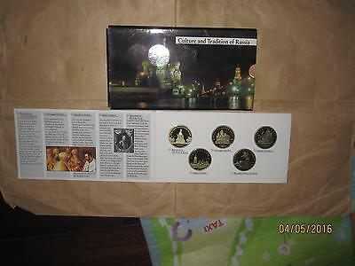 "1988 ~ 1992 culture and tradition Russia 1 & 3 & 5 Ruble proof 10 coin set "" RAR"