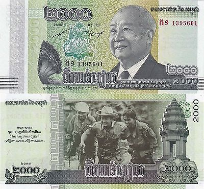Cambodia 2000 Riels (2013) - 60 Years of Independence Commemorative/p64 UNC