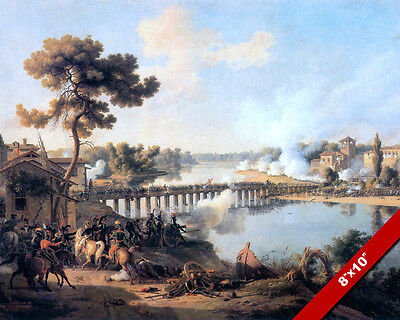 General Napoleon Battle Of Lodi Fine Art Painting Real Canvas Giclee 8X10 Print