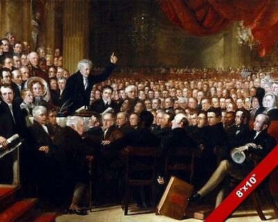 Anti Slavery Society Convention Painting Fine Art Real Canvas Giclee 8X10 Print