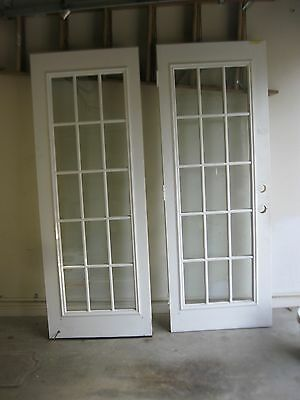 "FRENCH DOOR METAL EXTERIOR - 29""W X 77X13/4"" $150 or 300 for both -ENDS JULY 31"