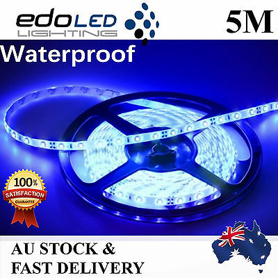12V Blue Waterproof Flexible LED Strip Lights 5M 300 LED 3528 SMD Light car boat