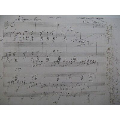 BEETHOVEN Waldsteinsonate op 53 Fac simile Piano   Partition Sheet Music Spartit