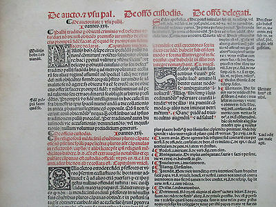 Decorative Post Incunable Leaf Law Red & Black Large Folio Fradin (5) - 1513