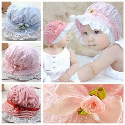 Toddler Infant Baby Girls Outdoor Bucket Hats Summer Sun Beach Bonnet Beanie Cap