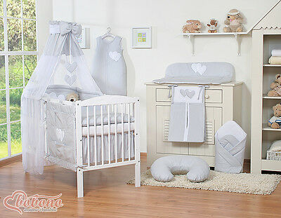 14p Baby Bedding Set Bumper Canopy Holder Quilt CANOPY for Cot Bed or Cot  .