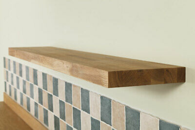 Solid Oak Wooden Floating Shelves - Top Quality Natural Timber Shelf / Shelving