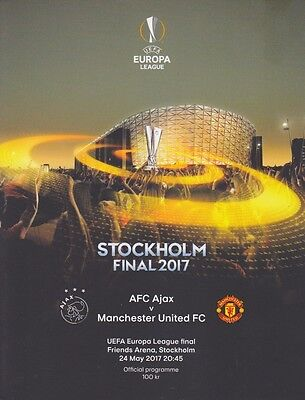 2017 EUROPA LEAGUE FINAL AJAX v MAN UTD OFFICIAL MINT PROGRAMME MANCHESTER