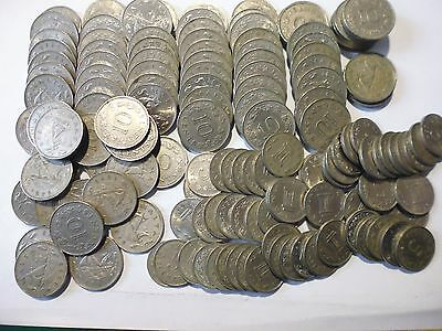 Maltese 10cent and 5 cent coins as listed (1.308 KG)