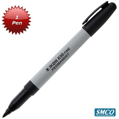 1 x SMCO Permanent Marker Pens Thin Slim Fine Tip - Ideal for Golf Balls BLACK