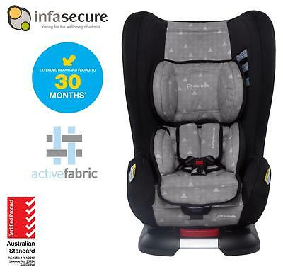 New Infasecure Kompressor 4 Treo Convertible Kid Baby Car Seat 0-4 years Grey