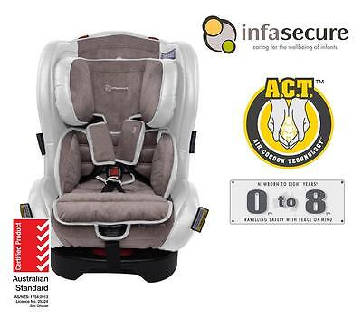 New Infasecure Luxi Vogue Convertible Kid Infant Baby Car Seat 0-8 years Ivory
