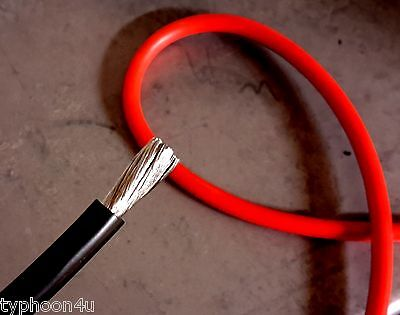 Motorcycle Starter Cable 6 AWG B&S 16mm2 Hi Temp. 12 Volt. Lugs available