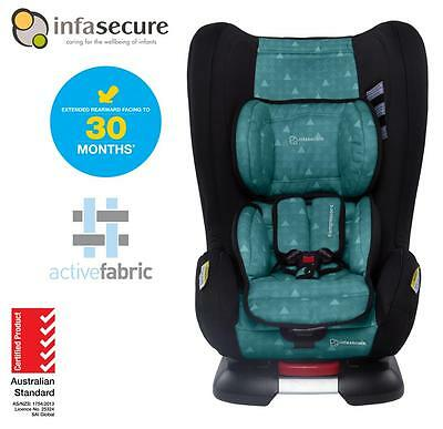 New Infasecure Kompressor 4 Treo Convertible Kid Baby Car Seat 0-4 years Aqua