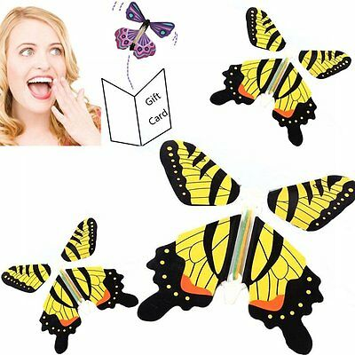 Magic Paper Butterfly Flying Fluttering Toy Boys Girls Birthday Party Gift New