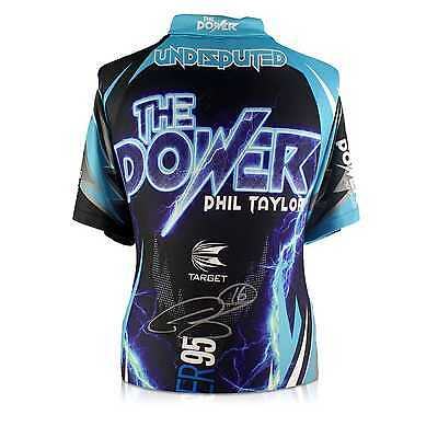 Phil The Power Taylor Signed 2017 Darts Shirt Autographed Sports Memorabilia