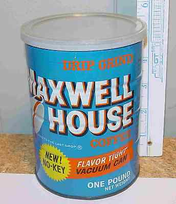 Maxwell House Drip Grind Flavor Tight Vacuum Can 1 Pound Vintage Tin