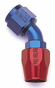Russell 610090 -6 AN Red/Blue 45 Degree Hose  Female Fitting