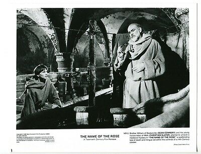 Name Of The Rose-Sean Connery-Christian Slater-8x10-B&W-Still