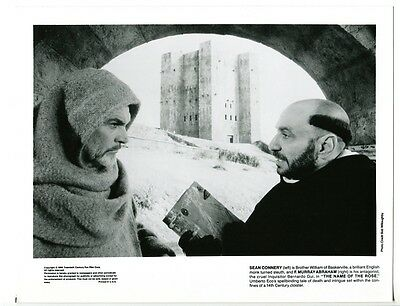 Name Of The Rose-Sean Connery-F. Murray Abraham-8x10-B&W-Still-Drama