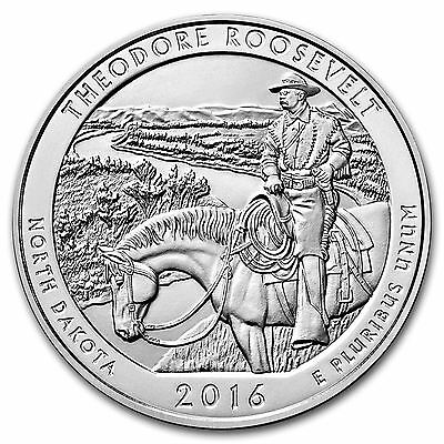 2016 America The Beautiful - Theodore Roosevelt National Park - 5 oz Silver Coin
