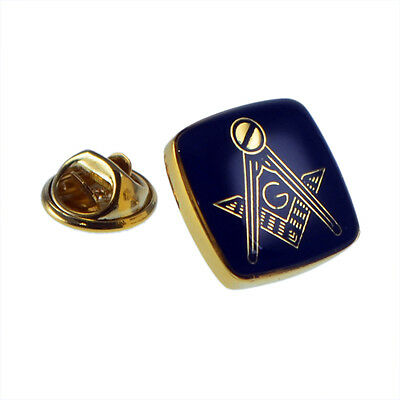 Golden & Blue Masonic with G Lapel Pin Badge XMP002