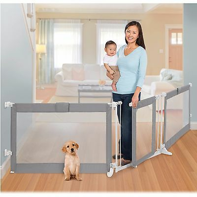Playard Gate Safety Gates Custom Fit Gate Adjusts To 141 inches Play Areas New