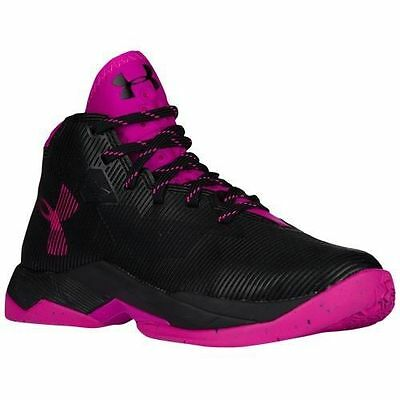 f8613a96052 New in Box Under Armour Girl s Toddler Curry 2.5 Basketball Shoes Black Pink