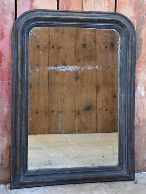 Rustic Louis Philippe mirror with original glass - antique French mirror