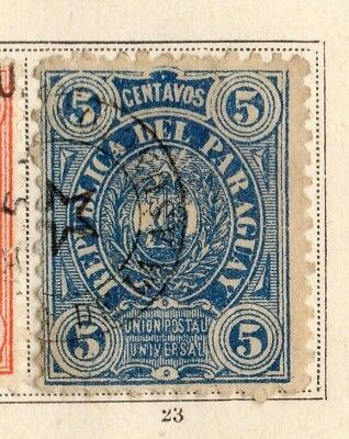 Paraguay 1884 Early Issue Fine Used 5c. 154100