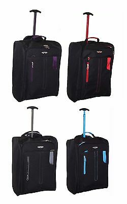 Cabin Approved On Board Wheeled Hand Luggage Travel Flight Holdall Trolley Bag