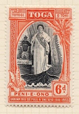 Samoa 1944 Early Issue Fine Mint Hinged 6d. 154249