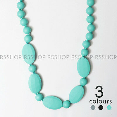 MN32 Baby Chewable Silicone Teether Pendant Necklace for Mom BPA Free