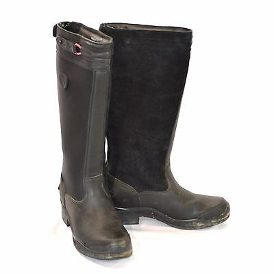 Used Ariat Extreme Tall Winter Boots - Black - Sz 8.5 #78609
