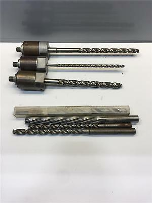 "Rare 9/16""-18 Male Mount x 5/8"" & 5/16"" Capacity Long Drill Bit Ream Chuck Lot"