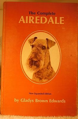 Dog Book THE COMPLETE AIREDALE Edwards/Signed  HB2nd Ed 1966 RARE GREAT BOOK