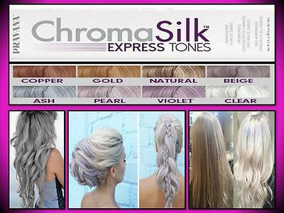 Pravana Chromasilk Hair Color Express Tones Colors 3 Oz Chroma Silk Ammonia Free