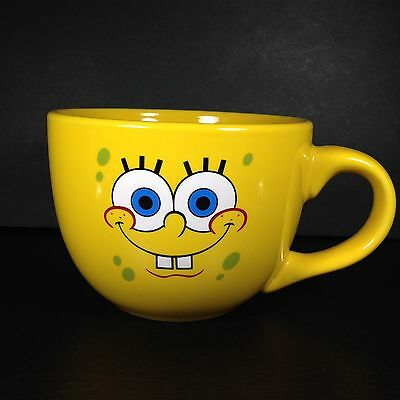 Spongebob Squarepants Silver Buffalo BIG 24 oz Mug Cup Soup Coffee Latte 2012